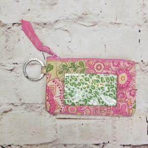 Vera Bradley ID Case Pink Petal Retired Key Card